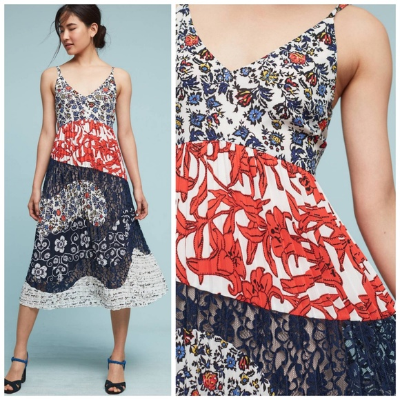 92b2231df1bc Anthropologie Dresses & Skirts - Anthropologie, Maeve Isa Pleated Midi Dress